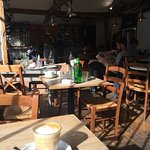 Cafe full of character; the latte, sadly, a bit less so ...