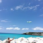 Maho Beach- where the planes appear to be landing on the beach