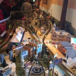 This is the model train set up representing Oconomowoc landmarks.