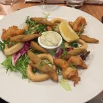 Crispy fried king prawns, squids, white bait with tartare sauce
