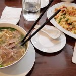 Pho and fried rice