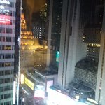 Night view across from suite