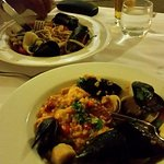 Paella and Seafood Linguine.