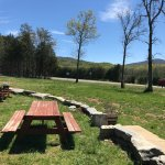 This is the view... you can eat at a picnic table or sitting on the wall.