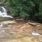 gentle cascades beneath the fall