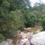 gentle cascades beneath the falls