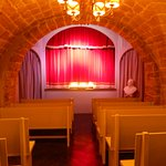 The small, intimate puppet theater