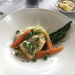 Wonderful halibut and spring veggies (lunch portion)