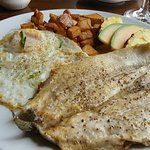 Eggs and fresh trout Brunch Fare