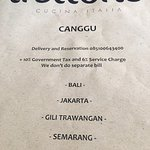 Trattoria Canggu Bali Photo