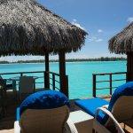 Lagoon view villa deck
