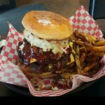Top Notch Burger with Cole Slaw
