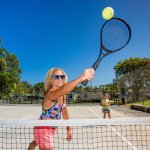 Have a hit of tennis with the family