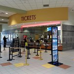 the ticket counter inside the mall