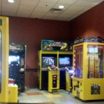 the electronic game areas for those bored kids