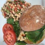 Grilled Chicken Sandwich with a Fresh Bean Salad
