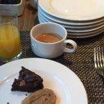 Desayuno del Campeon! El desayuno era realmente asequible! Había una selección de jamones que pa