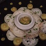 Chair de crabe/mayonnaise aux epices et radis noir, un delice !