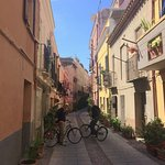 cycling through the back streets of Cagliari