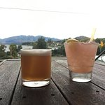 Bourbon maple sour and Bramble