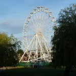 The Wheel on opposite riverbank.