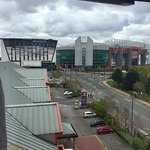 The 'view' from 907!! Perfect for United fans