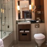 bathroom - shower area is very compact