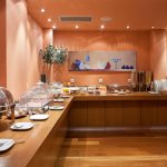 Rich Buffet Breakfast with Greek delicacies of hot and cold products