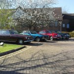 Vintage cars on car park!