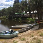 Snook Haven Park - rental canoes with restaurant in background