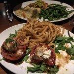 Tomato basil salad (half eaten!)