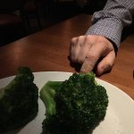 Giant steamed broccoli.