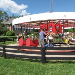 Take a spin on the antique carousel!