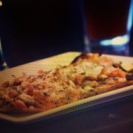 Shared grilled vegetable flat bread