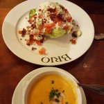 Wedge Salad and Lobster Bisque
