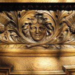 A detail of wood carving