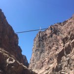 The Royal Gorge Bridge from below on the train.