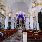 inside the Church of Our Lady of Guadalupe