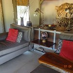 day beds to lie on and watch birds and warthogs
