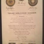 JFK Welcome dinner invitation for Austin dinner that JFK never made it to on the fatal day Nov 2