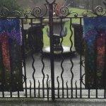 Ornamental gates in the garden.