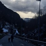 walking down to Arinsal village..