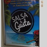 """This was near the bathroom. There is a salsa """"community"""" in Amsterdam!"""