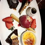 Sharing dessert platter