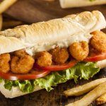 Join us for lunch for a Shrimp Po'Boy.