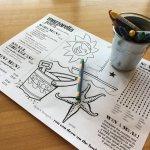 Kids can draw on their menu