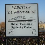 Sign for Boat Rides that Begin at Square du Vert-Galant