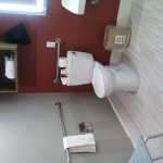Accessible bathroom (notice the odd location for hooks)