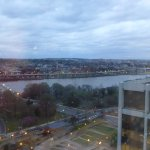 Looking over key bridge towards DC from the restaurant