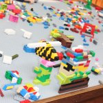 Lego table for kids to create